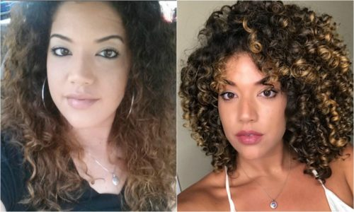 curly hair transition